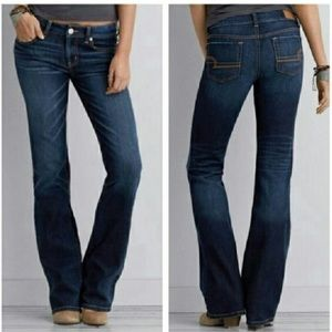 AEO Dark Wash Favorite Boyfriend Jeans, Long